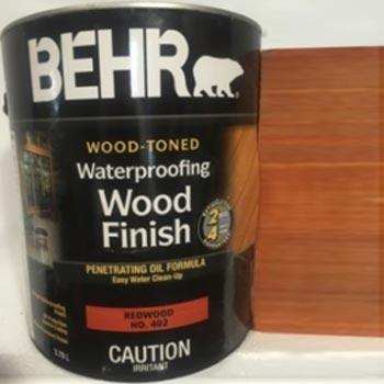 Acabado madera base aceite Behr polyrec