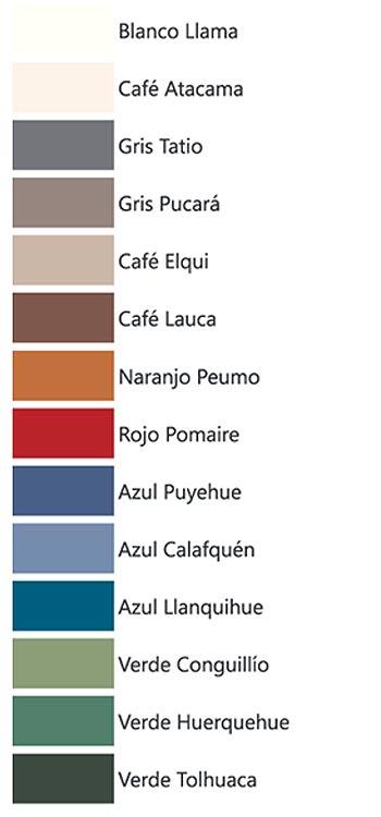 muestra colores - latex reciclado